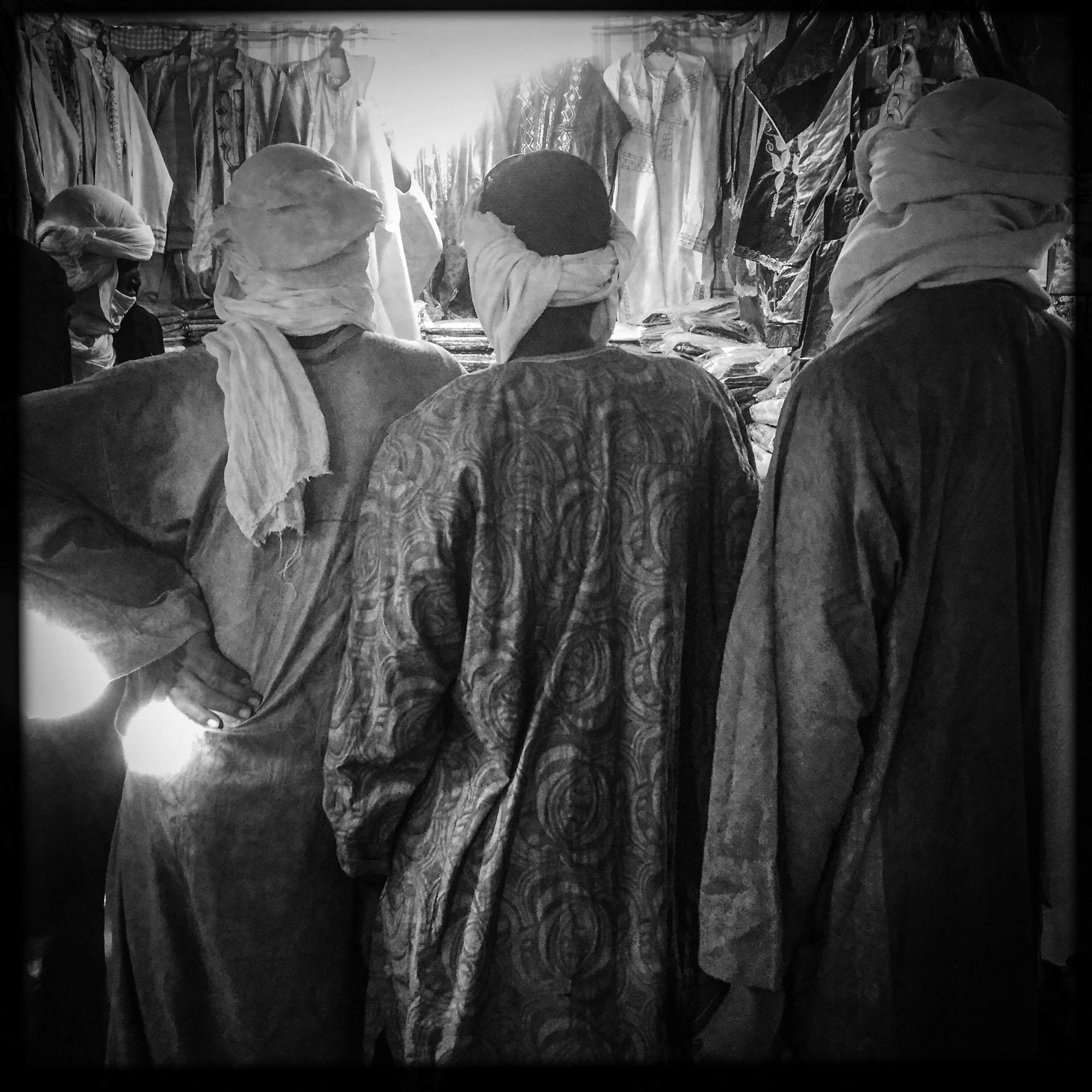 Déserté depuis 2010 par les touristes interdit d'accés à la ville, le marché Africain si réputé est complétement désert. 5/02/2016, Tamanrasset, ALGERIE.