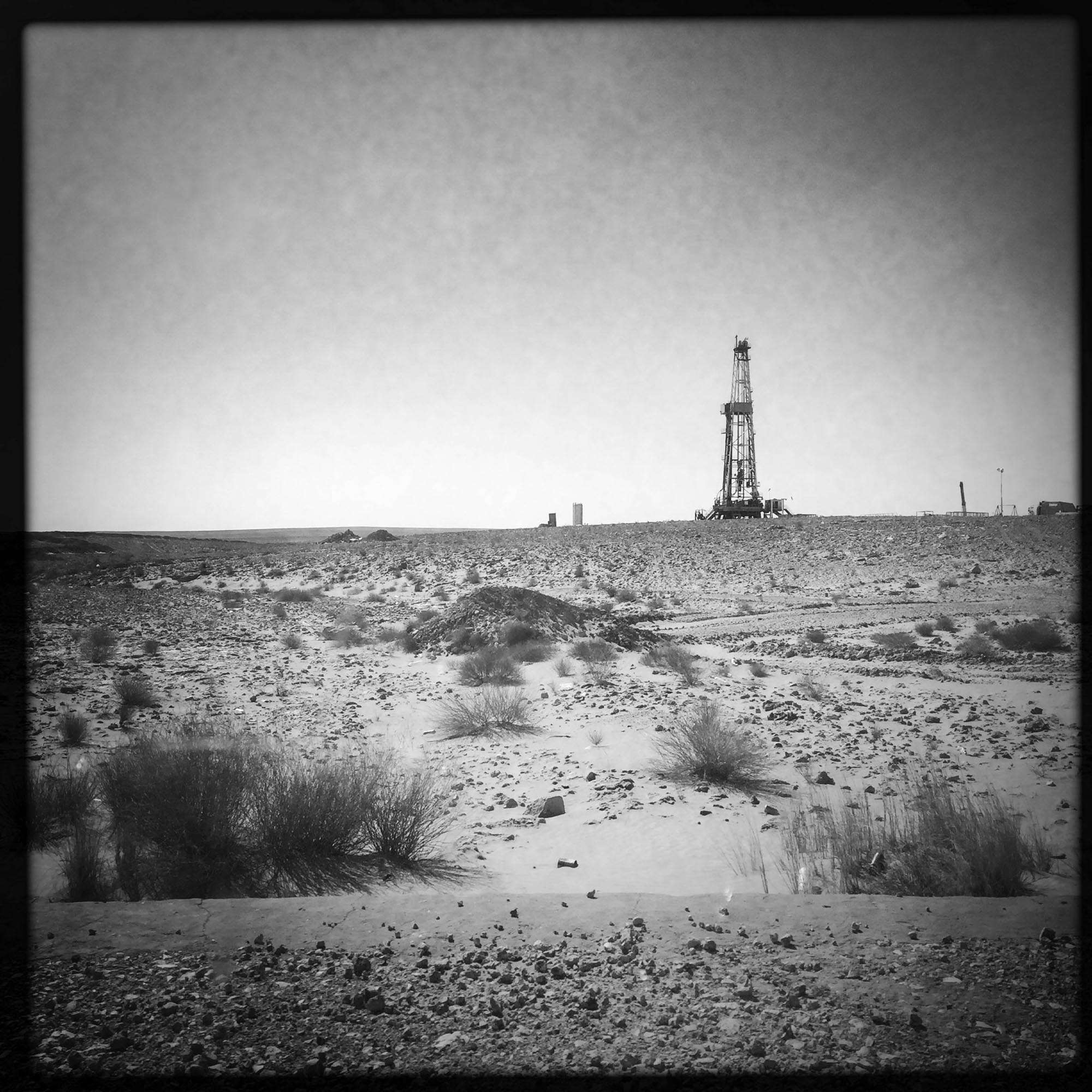 Le long de la route Nationale 49 entre Ghardaïa et Ouargla. 8/02/2016, ALGERIE.
