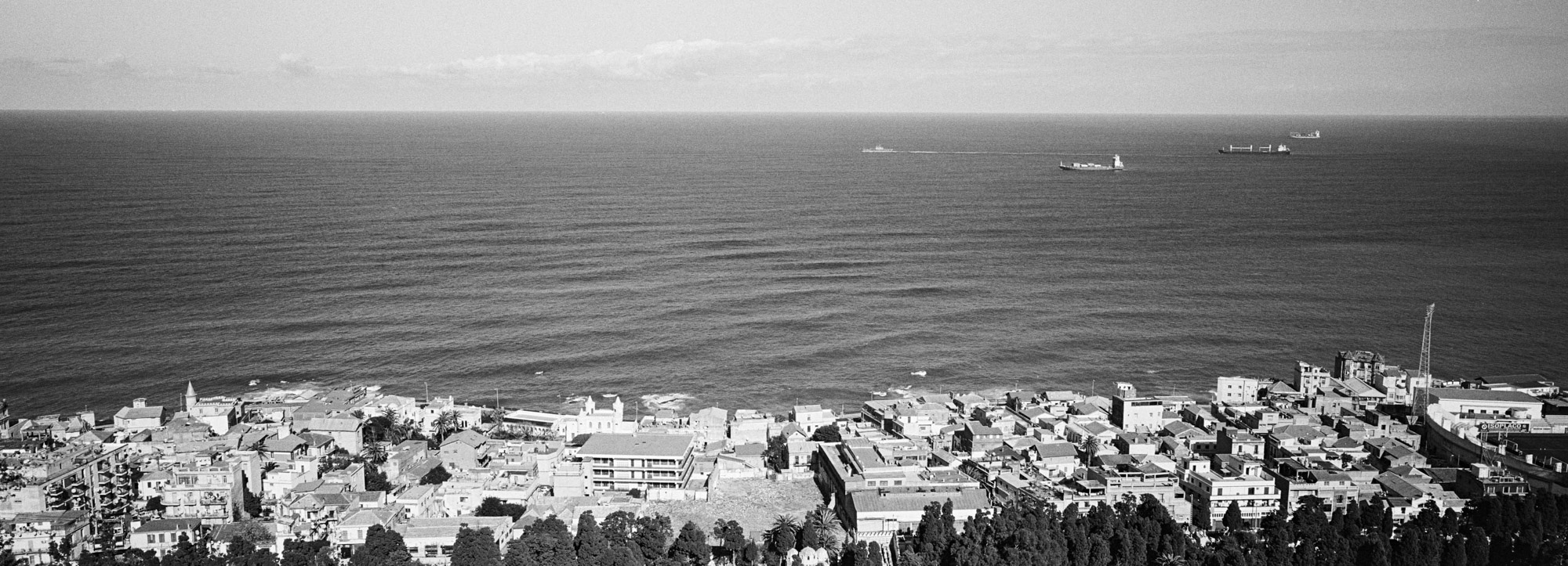 Vue depuis l'esplanade de la basilique Notre Dame d'Afrique sur les hauteurs d'Alger. 17/02/2016, Alger-ALGERIE.