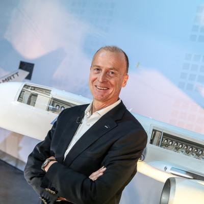 Tom Enders, président d'Airbus Group. 15 février 2018, Colomiers, France.